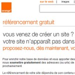Soumettre son site internet à Orange